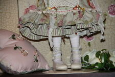 Jasmines Cottage Olivia Ivory Leather BJD Doll Shoe MSD 63mm fits Wiggs & Lasher