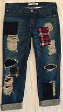 NEW! COMME des GARCONS Junya Watanabe Unisex Patchwork Cotton Blue Denim Jeans L