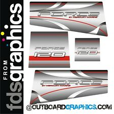 Mercury Force 120hp outboard engine graphics/sticker kit