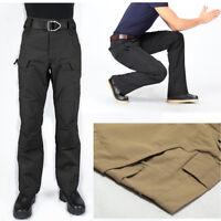 Mens Outdoor Tactical Pants Casual Military Resistant Waterproof Combat Cargo