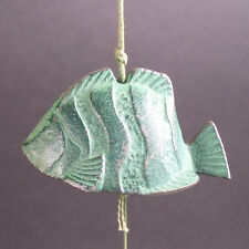 Vintage Japanese Iron Figural  Bell/windchime-Green Fish