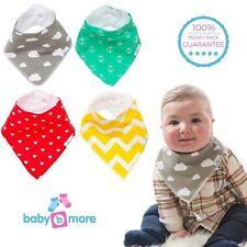 *NEW* PREMIUM Baby Bandana Drool Bibs (4) - Super Soft & Absorbent - Boy or Girl