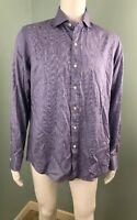 NWT Mens Polo Ralph Lauren L/S Purple/Wht Checked Button Down Shirt Sz M Medium