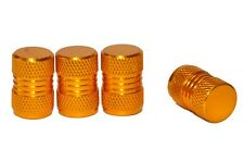 4 x Gold Metal Tyre Valve Dust Caps - Cars, Motorbikes, Bikes, Vans
