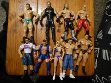 9 WWE Wrestling Action Figures-Undertaker-Baptista-Rated R Superstar-Sena +More-
