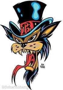Top Hat Cat STICKER Decal Poster Art Alan Forbes AF32