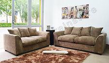 Jumbo Cord CARAMEL Fabric Sofas 3 Seater + 2 Seater Sofa DYLAN Settee