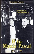 Il Fu Mattia Pascal (1925) VHS Mondadori - Pirandello  Marcel L'Herbier B/N
