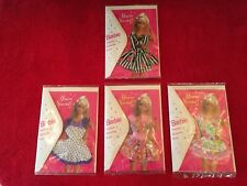 Barbie Fashion Greeting Card w/Dress, Lot of 4, New, Mint, Nrf Orig. Package