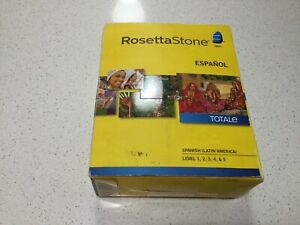 Rosetta Stone Spanish (Latin America) Level 1-5 Set 2012 Version 4 W/ Headset