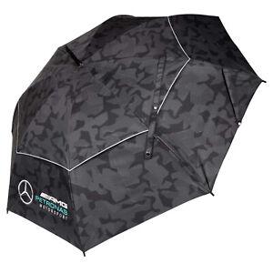 """Official Mercedes-AMG Petronas F1 Camo 55"""" Dual Canopy Umbrella Formula 1"""