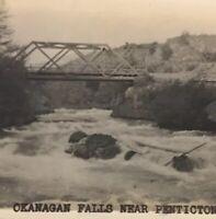 Postcard, Bridge, Okanagan Falls Near Penticton B.C. Canada Vintage P17
