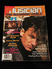 VINTAGE MUSICIAN RECORDING MAGAZINE-U2-BONO-PAT BENATAR-HERBIE HANCOCK-1984