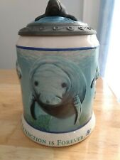 """""""Extinction is Forever"""" Manatee Mug/Stein Made for Anheuser Bush a 00006000 nd Sea World"""