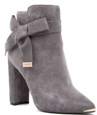 Ted Baker London Sailly Suede Bootie Womens Heeled Ankle Boots Dark Grey Size 10