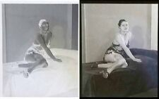NEGATIF CELLULO vers 1900 / 12 X 14.5 cm  / risque sexy nude / 1