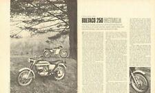 1967 Bultaco 250 Metralla Motorcycle Road Test 5-Page Article