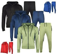 Mens Tracksuit Set Fleece Hoodie Top Bottoms Joggers Gym Trackies Jogging Hoody