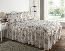 Rose Garden Floral Quilted Bedspread Pillow Sham