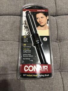 NEW CONAIR Hot Sticks Instant Heat Hot Brush 3/4 Inch BC84JCS Curling Iron Tool