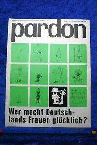 Pardon - La Tedesco Satirische Giornale Mensile Del 2/63 Was Forza Germania