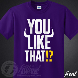 YOU LIKE THAT!? T-Shirt Kirk Cousins Yell Skol Kings Fits Vikings Fan Jersey