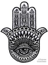 HAMSA EMBROIDERED PATCH iron-on HAND of FATIMA EVIL EYE KHAMSAH SPIRITUAL SYMBOL