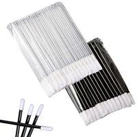 50pcs Disposable Lip Brush Cosmetic Lipstick Gloss Wands Applicator Make Up Tool