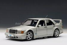 1:18 Autoart 76133 Mercedes-Benz 190e 2.5-16v evo2 w201 En Argent NOUVEAU & NEUF dans sa boîte RARE