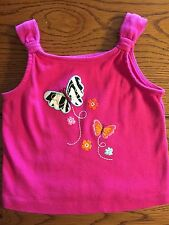 *GYMBOREE* Girls WILD FOR ZEBRA Pink Butterfly Tank Top Size 3-6 Months