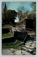 Harpers Ferry WV, Natural Stone Steps, Chrome West Virginia Postcard