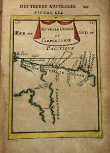 AUSTRALIA NEW GUINEA 1683 ALAIN MANESSON MALLET ANTIQUE MAP 17TH CENTURY