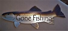 Metal Gone Fishing Trout/Fish,Fly,Cabin.Lodge,Art,Wall,Home decor,Hand made