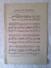 """PARTITION ANCIENNE : """"Tambour et Trompette"""", (NOËL), début XXè"""