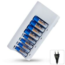 8 Slot Rapid Smart Battery Charger for AA AAA NiMH NiCD Rechargeable Battery