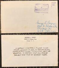 Galapagos Island Cover Barrel Mail Floreana Island SS Stella Polaris to USA 1951