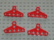 4 x Triangle red LEGO TECHNIC White Triangle 2905 /Set 8274 8422 8284 8157 8386
