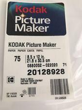 Kodak Picture Maker Paper 75 Sheets