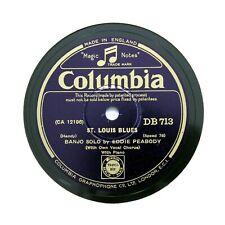 "EDDIE PEABODY (Banjo Solo) ""St. Louis Blues"" 1931 (E+) COLUMBIA DB-713 [78 RPM]"