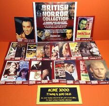 British Horror Collection - Unstoppable Cards - Basic Preview Set of 18 Cards