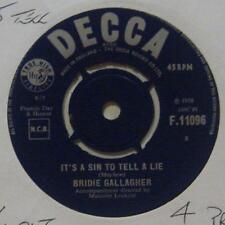 """Bridie Gallagher(7"""" Vinyl 2nd State)It's A Sin To Tell A Lie-Ex/Ex-"""