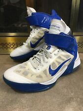 Nike Hyperfuse Max Air Basketball Shoes Mens Size 11 Blue White 429545-103 2010