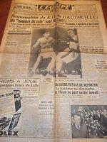 L'EQUIPE BOXE K O DE DAUTHUILLE - LA MOTTA -  1950