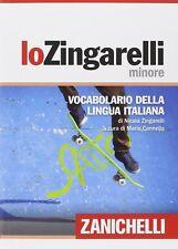 Vocabolario Dizionario Dizionari Zingarelli Minore Italiano Nuovo Zanichelli