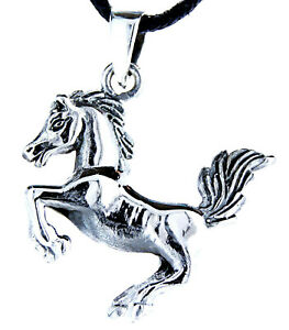 Horse pendant 925 Sterling Silver with Band Chain Pendant No 6