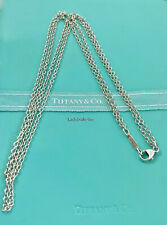 Tiffany & Co. Sterling Silver Double Chain 16in Necklace Lobster Clasp  20523B