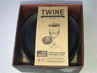 Brand New in Box  Twine Wine Glass Toppers Mahogany