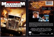 DVD Stephen King MAXIMUM OVERDRIVE Emilio Estevez AC/DC music 16x9 WS Cdn OOP R1