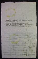 Marlene REIDEL (1923-2014) handschriftliches Gedicht nach LI-TAI-PE - UNIKAT