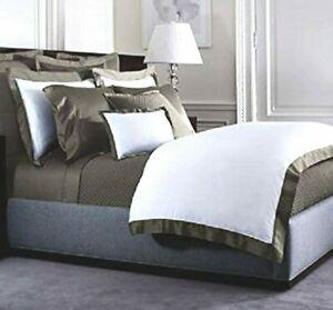 Ralph Lauren METROPOLITAN GREY 3 PC Set King Fitted Sheet & Standard Pillowcases